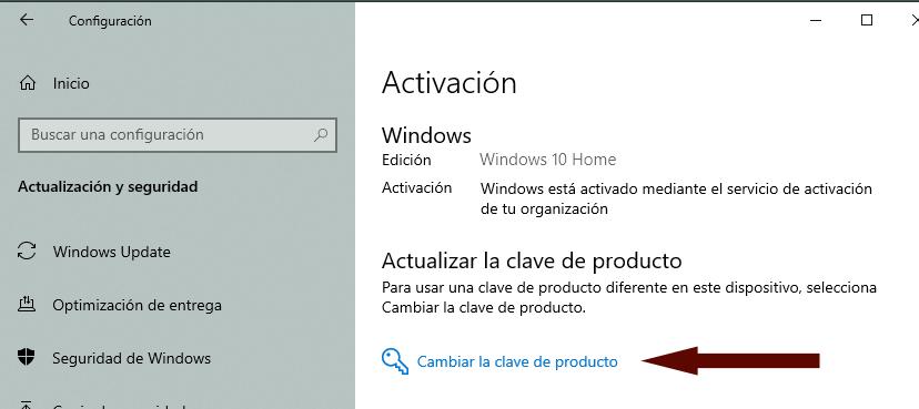 Configuración W10 - Activación