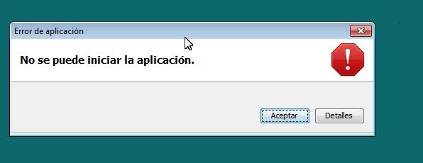 Error al iniciar la aplicación Java