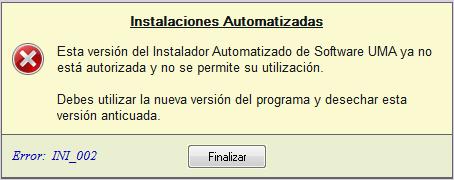 Instalador automatizado anticuado