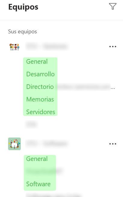 MS Teams - Canales