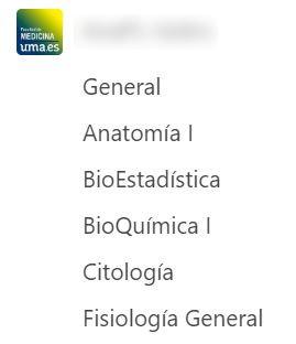 MS Teams - Canal Estudiantes 1º Medicina (ejemplo)