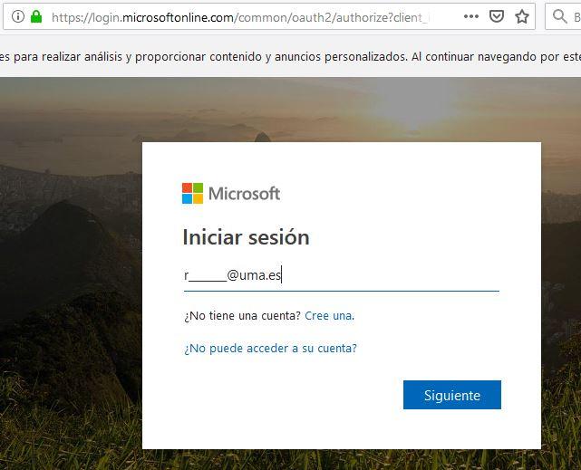 Office 365 - Portal de Inicio - Cuenta