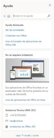 Office 365 Ayuda