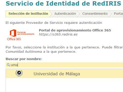 SIR2: Universidad de Origen - Buscar por nombre