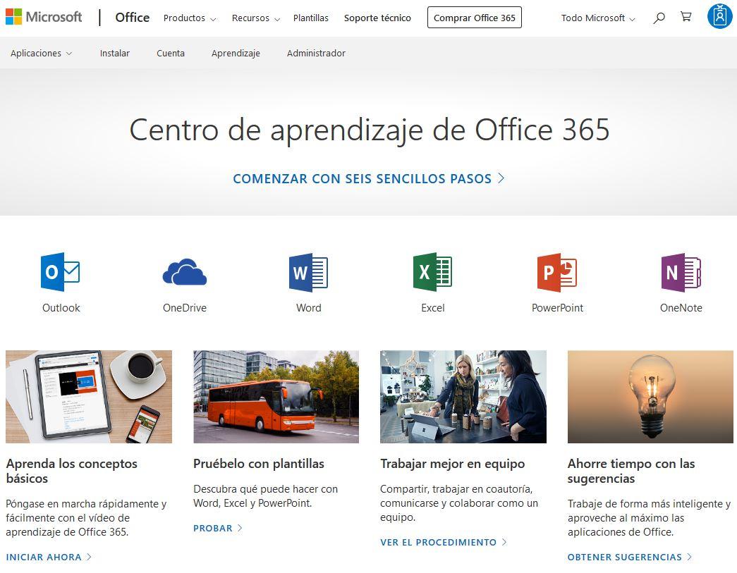 Office 365 - Centro de Aprendizaje