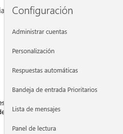 Configuración - Administrar cuentas